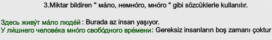 Rusça İsmin İN Hali 3