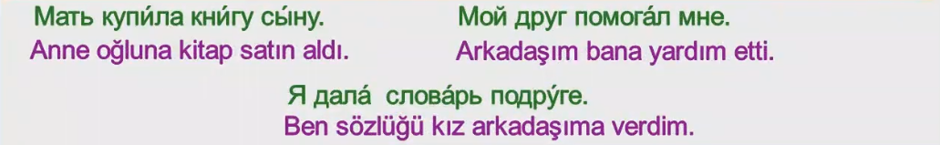 Rusça İsmin E Hali 6