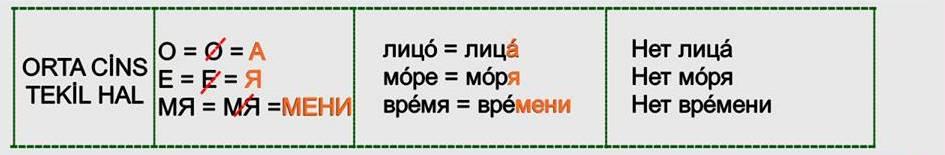 Rusça İsmin İN Hali 7