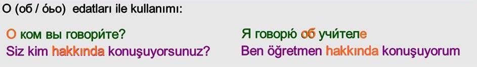 Rusça İsmin DE Hali 8