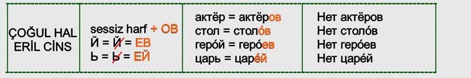 Rusça İsmin İN Hali 8