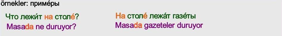 Rusça İsmin DE Hali 9