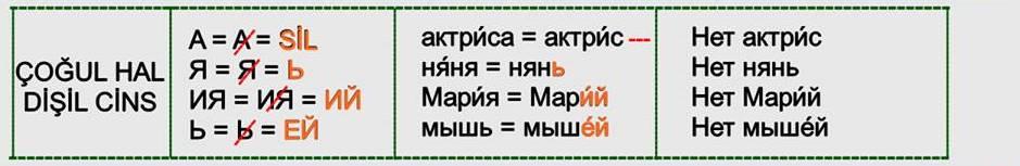 Rusça İsmin İN Hali 9