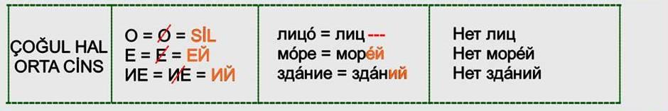 Rusça İsmin İN Hali 10
