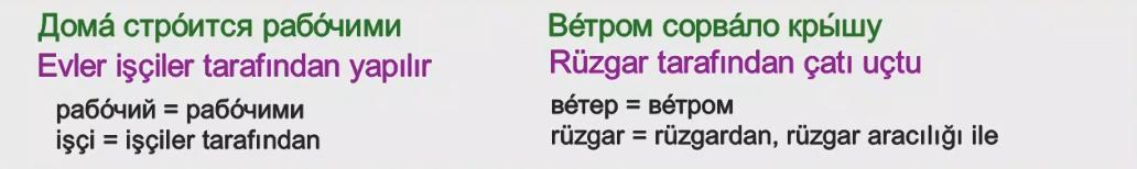 Rusça İsmin İLE Hali 11