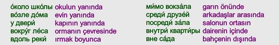 Rusça İsmin İN Hali 11