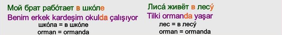 Rusça İsmin DE Hali 11