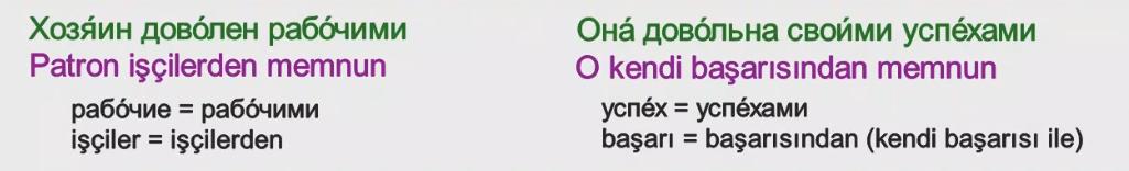 Rusça İsmin İLE Hali 13