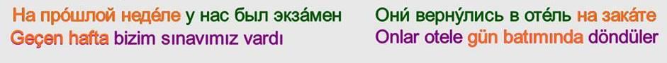 Rusça İsmin DE Hali 15