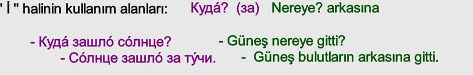 Rusça İsmin İ Hali 24