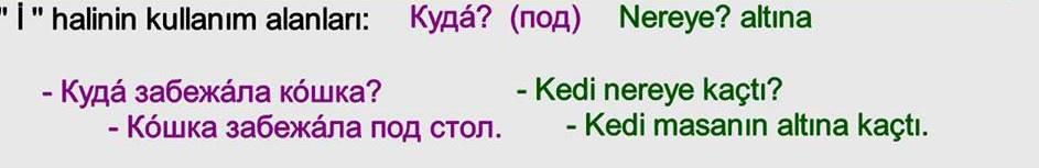 Rusça İsmin İ Hali 25