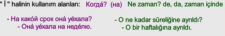 Rusça İsmin İ Hali 28
