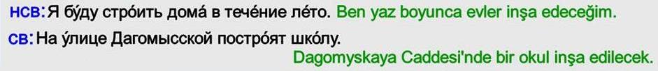 Rusça Gelecek Zaman 3