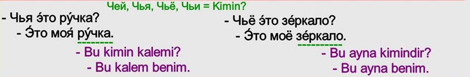 Rusça İsmin Yalın Hali 9