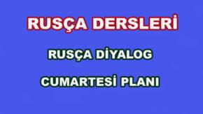 Rusça Diyalog - Cumartesi Planı