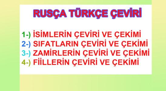 Rusça Türkçe çeviri
